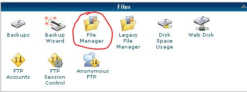file manager do cpainel